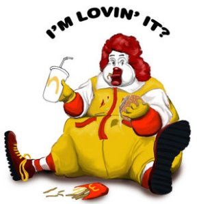 fat ronald cartoon